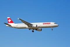 瑞士人A-340 免版税库存照片