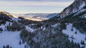 瑞士冬天-斯诺伊山 库存图片