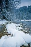 瑞士冬天 库存照片
