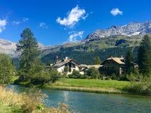 瑞士在夏天 库存图片