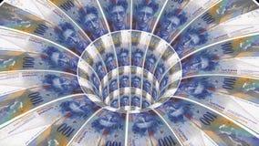 瑞士坦率的蠕虫孔漏斗隧道飞行无缝的圈动画背景新的质量财务事务冷却好 皇族释放例证