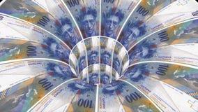 瑞士坦率的蠕虫孔漏斗隧道飞行无缝的圈动画背景新的质量财务事务冷却好 库存例证
