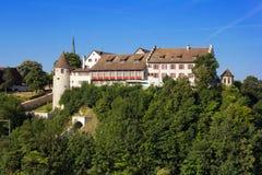 瑞士城堡Laufen,瑞士 库存照片