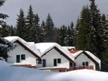 瑞士山中的牧人小屋一点噪声三 免版税库存图片