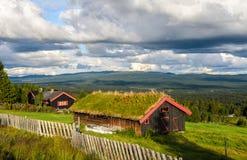 瑞士山中的牧人小屋在Geilo,挪威 库存图片