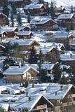 瑞士山中的牧人小屋更多山村 库存图片