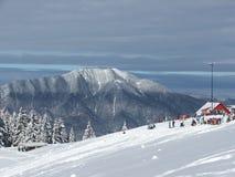 瑞士山中的牧人小屋clabucet 免版税图库摄影
