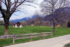 瑞士山国家边 免版税库存照片