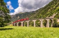 瑞士山火车 免版税图库摄影
