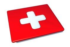 瑞士旗子片剂 免版税库存图片