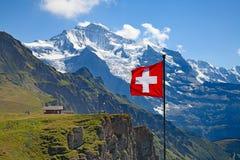 瑞士旗子 库存照片