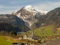 瑞士村庄 库存照片
