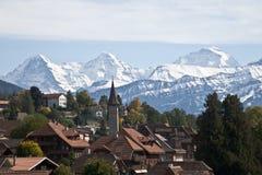 瑞士村庄 库存图片