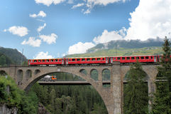 瑞士桥梁 库存照片