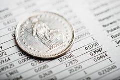 瑞士法郎的率 免版税库存图片