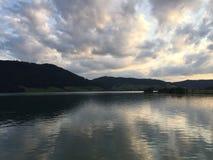 瑞士湖 免版税库存照片