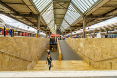 瑞士火车站 免版税库存照片