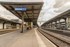 瑞士火车站- HDR 免版税库存图片