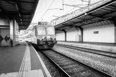 瑞士火车站- HDR 图库摄影
