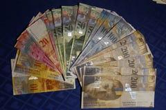 瑞士现金 免版税库存图片