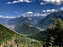 瑞士的山 免版税库存照片
