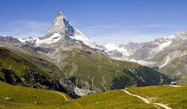 瑞士的山 库存图片