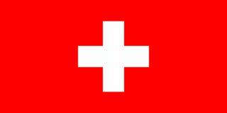 瑞士的旗子 免版税库存图片