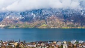 从瑞士的湖视图 免版税库存图片