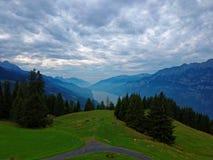 瑞士的瓦伦湖 库存照片