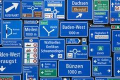 瑞士的路标 库存照片