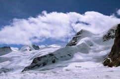 瑞士的阿尔卑斯 从Jungfraujoch (欧洲上面的看法) 免版税库存图片
