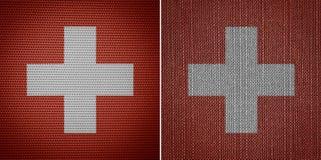 瑞士织品旗子 图库摄影