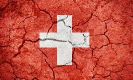 瑞士联邦旗子 库存例证