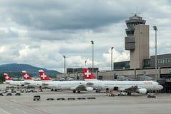 瑞士航空公司飞机 免版税库存图片