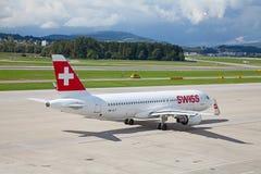 A-320瑞士航空公司 图库摄影