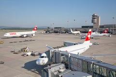 A-340瑞士航空公司 免版税图库摄影