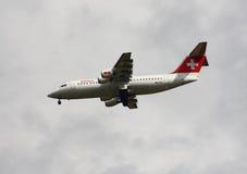 瑞士航空的国际线 库存照片