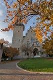 瑞士苏黎士- 2015年10月28日:圣雅各布教会,苏黎世秋天风景  库存图片