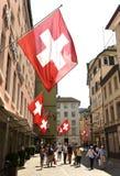 瑞士苏黎士- 2017年6月03日:在Zur街道上的人们  库存图片