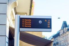 瑞士苏黎士- 2017年10月16日:电车和公共汽车运输s 库存照片