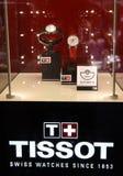 瑞士苏黎士- 2017年6月03日:著名瑞士人观看Tissot 免版税库存图片