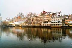 瑞士苏黎世 老城镇 免版税图库摄影