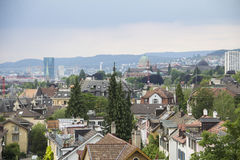 瑞士苏黎士都市风景 免版税库存图片