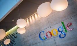 瑞士苏黎士, Google Corporation Recept 免版税库存图片