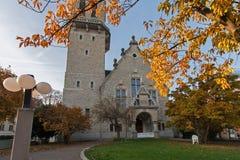 瑞士苏黎士- 2015年10月28日:圣雅各布教会秋天风景  图库摄影