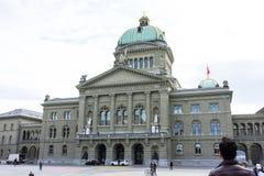 瑞士议会大厦在伯尔尼叫Bundeshaus 图库摄影