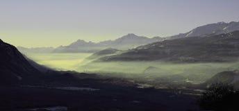 瑞士谷 库存图片