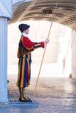 瑞士近卫队在梵蒂冈 库存照片