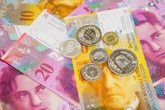 瑞士金钱 免版税图库摄影