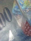 瑞士钞票的francks 免版税库存照片